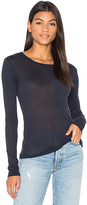 Enza Costa Tissue Jersey Bold Long Sleeve Crew Top