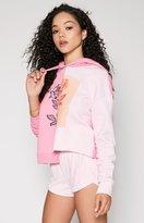 KENDALL + KYLIE Kendall & Kylie Split Graphic Fleece Hoodie