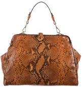 Brooks Brothers Snakeskin Frame Bag