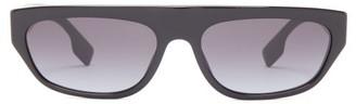 Burberry Tb-logo Slim D-frame Acetate Sunglasses - Mens - Black Multi