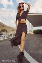 Urban Outfitters Polka Dot Button-Down Midi Shirt Dress