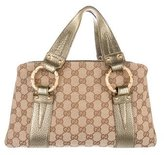 Gucci GG Canvas Bamboo Ring Tote