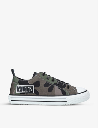Valentino Giggies camouflage-print mesh low-top trainers