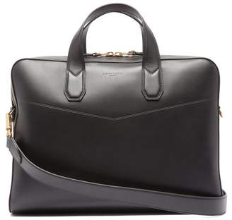 Dunhill Duke Single-document Leather Briefcase - Mens - Black