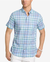 Izod Men's Saltwater Dockside Plaid Cotton Shirt
