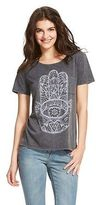 Awake Women's Hamsa Hand Graphic T-Shirt - Black