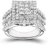 Kobelli Jewelry 2 CT TW Diamond 14K White Gold Fashion Ring