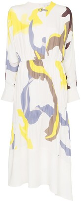 Tibi Ant Farm print panel dress