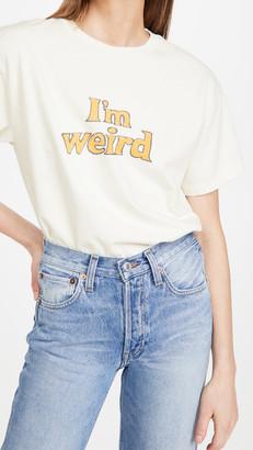 "RE/DONE 90s Oversized Tee Im Weird"""