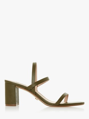 Dune Marta Leather Triple Strap Sandals