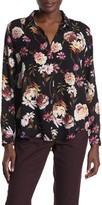 T Tahari High/Low Floral Print Blouse