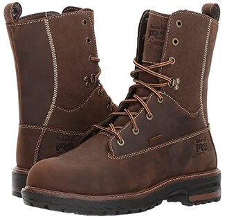 Timberland Hightower 8 Alloy Safety Toe Waterproof (Kaffe Full Grain Leather) Women's Work Lace-up Boots