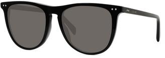 Celine Men's Round Solid Acetate Sunglasses