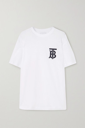 Burberry Printed Cotton-jersey T-shirt - White