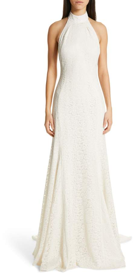 Stella McCartney F18 Magnolia Halter Lace Wedding Dress