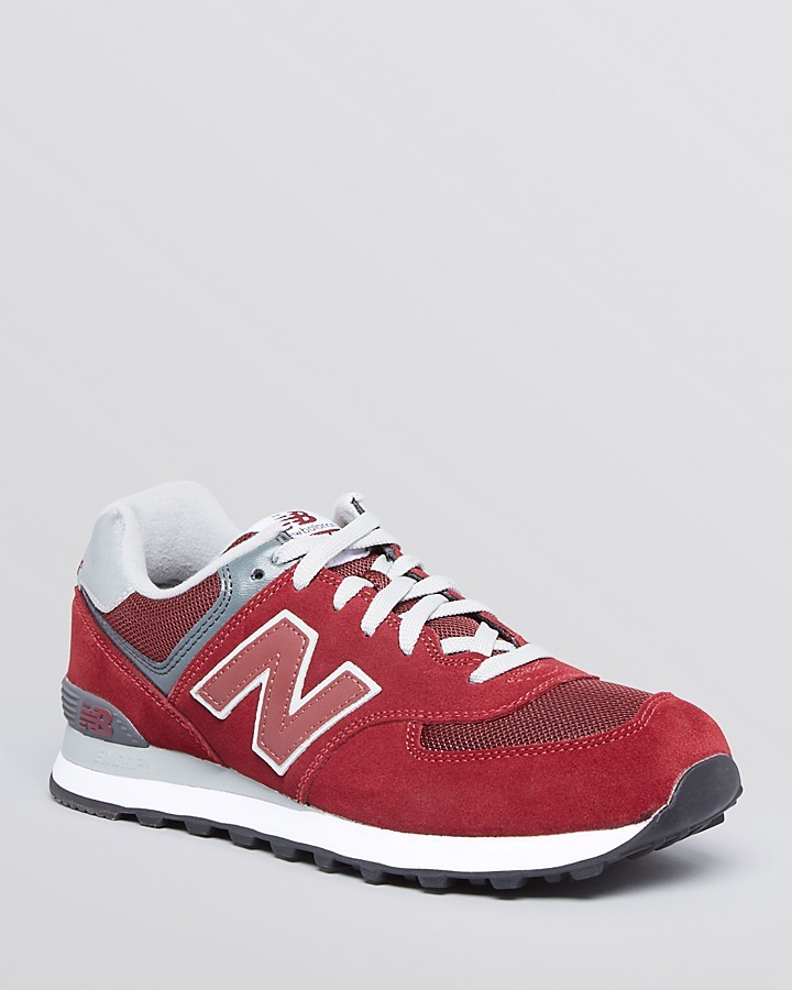New Balance M574 Core Suede Mesh Running Sneakers