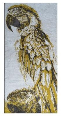 World Menagerie Isolde Bird Design Cotton Ochre/Brown Area Rug World Menagerie