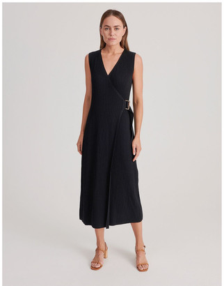 Basque Ribbed Knitted Dress