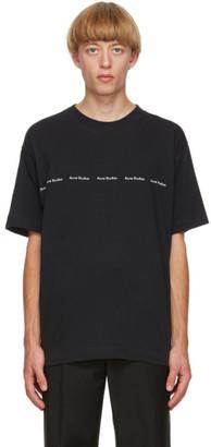 Acne Studios Black Logo Print T-Shirt