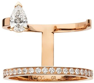 Repossi 18kt rose gold Serti Sur Vide diamond ring