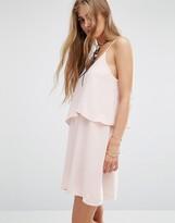 MANGO Ruffle Double Layer Dress