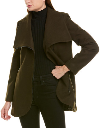 French Connection Asymmetrical Wool-Blend Coat