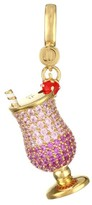 Judith Leiber 14K Goldplated Sterling Silver & Cubic Zirconia Cocktail Charm