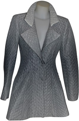 Ermanno Scervino Grey Coat for Women