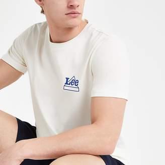 River Island Lee white logo print T-shirt