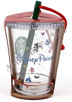 "Disney Parks Exclusive Starbucks Clear Cold Cup with Straw 3"" Christmas Tree Ornament"