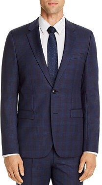 HUGO BOSS Astian Tonal Plaid Extra Slim Fit Suit Jacket