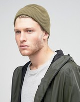 Asos Fisherman Beanie In Olive