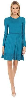 M Missoni Women's Solid Long Sleeve Dress