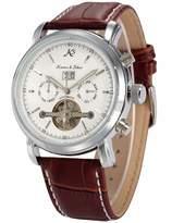 K&S KS Tourbillon Automatic Mechanical Date Dial Men's Sport Wrist Watch KS004