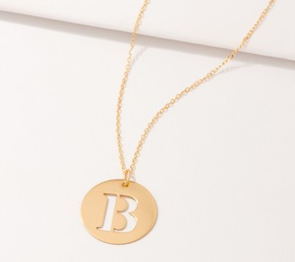 Italian Gold Initial Pendant with Chain, 14K