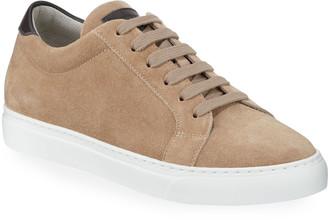 Brunello Cucinelli Men's Suede Low-Top Sneakers