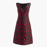 J.Crew Collection jacquard sheath dress in cherry print