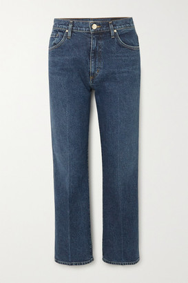 Gold Sign Net Sustain The Cropped A High-rise Straight-leg Jeans - Mid denim