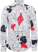 Stretch Cotton House Of Cards Shirt