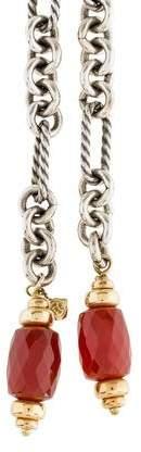David Yurman Carnelian Figaro Bijoux Lariat Necklace