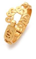 WGACA Vintage Chanel CC Swirl Closure Cuff