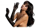 Seven Til Midnight SEVEN 'TIL MIDNIGHT Women's Elbow Length Lace Gloves