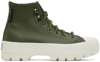 Converse Green Winter Chuck Taylor Lugged High-Top Sneakers