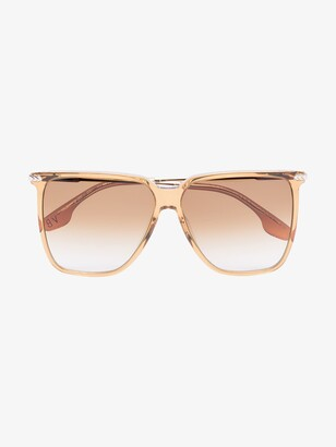 Victoria Beckham Yellow Large Square Sunglasses