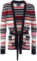 Laneus multi-pattern belted cardigan - men - Cotton - 48