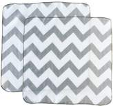 Satsuma Designs Muslin Washcloths, Grey