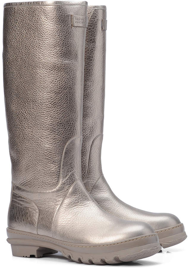 Brunello Cucinelli Metallic Leather Boot