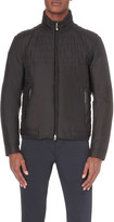 HUGO BOSS Quilted leather trim jacket