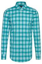 HUGO BOSS Buffalo Check Cotton Easy Iron Dress Shirt, Slim Fit Jason 17 Open Green