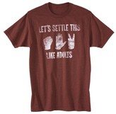 Men's Rock Paper Scissors T-Shirt Burgundy
